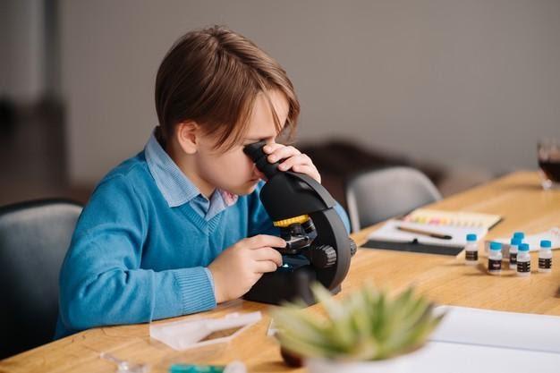 chico estudiando en casa homeschooling